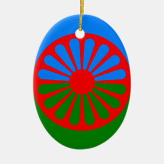 Official Romany gypsy flag Ceramic Oval Decoration