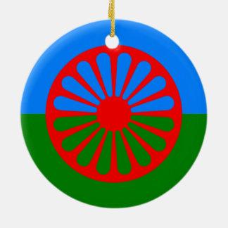 Official Romany gypsy flag Christmas Ornament