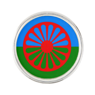Official Romany gypsy flag Lapel Pin