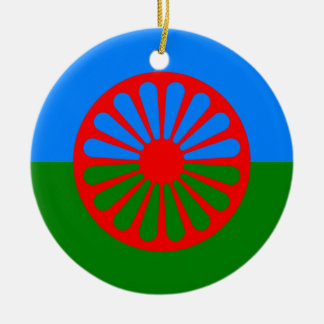Official Romany gypsy flag Round Ceramic Decoration