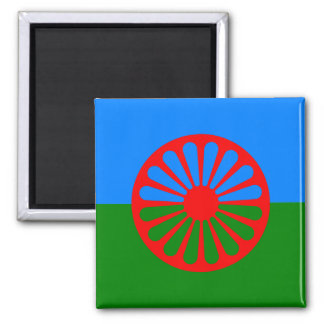 Official Romany gypsy flag Square Magnet