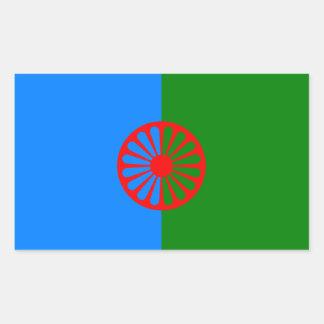 Official Romany gypsy flag Rectangular Sticker