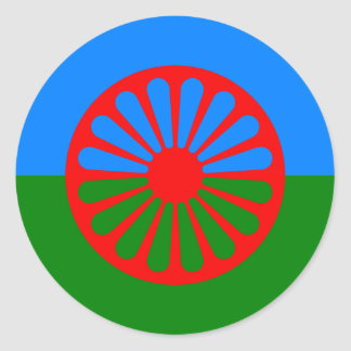 Official Romany gypsy flag Classic Round Sticker