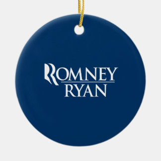 OFFICIAL ROMNEY RYAN LOGO -.png Round Ceramic Decoration