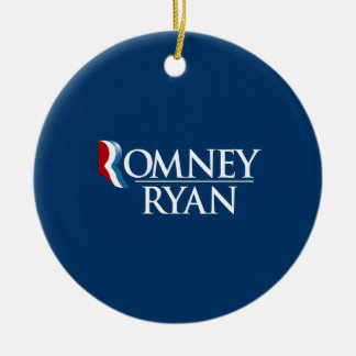 OFFICIAL ROMNEY RYAN - -.png Round Ceramic Decoration
