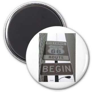 Official Route 66 begin sign Magnet
