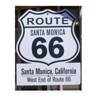 Official Route 66 end sign santa monica Postcard