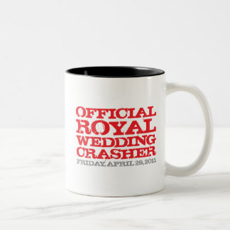Official Royal Wedding Crasher Two-Tone Mug