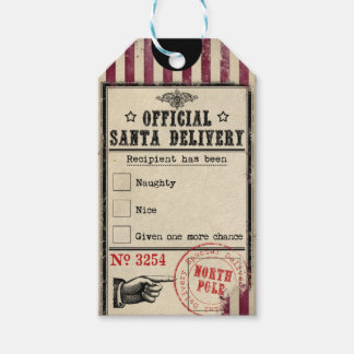 Official Santa Delivery Naughty or Nice Gift Tag