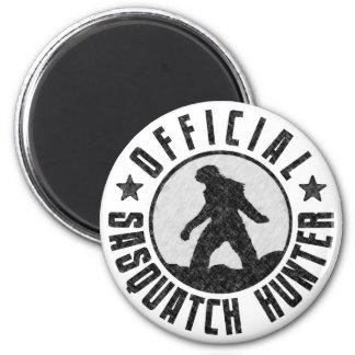 Official Sasquatch Hunter - Bigfoot in B/W Grunge Magnet