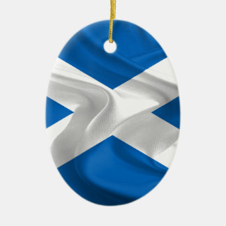 Official Scottish flag for the independence Ceramic Oval Decoration