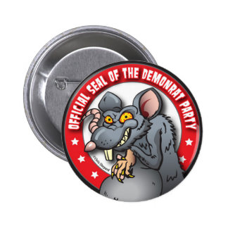 OFFICIAL SEAL of The DEMOCRAT AKA DEMON-RAT PARTY 6 Cm Round Badge