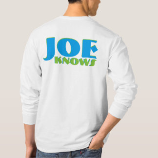 OFFICIAL SHER-CO LOGO JOE KNOWS COMFORT TEE