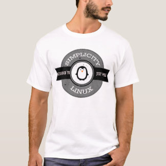 Official Simplicity Linux White T-shirt