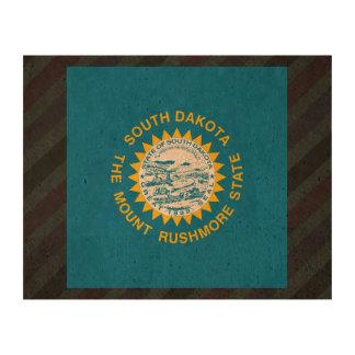 Official South Dakota Flag on stripes Cork Paper