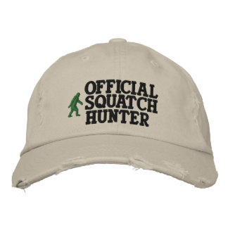 Official squatch hunter embroidered baseball caps