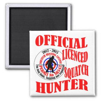 Official squatch hunter refrigerator magnet