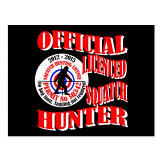 Official squatch hunter postcard