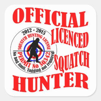 Official squatch hunter square sticker