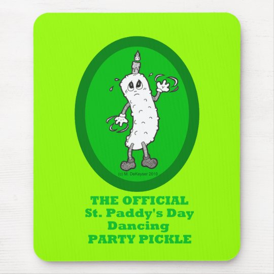 Official St. Patrick's Day Dancing Party Pickle Mouse Mat