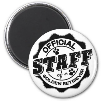 Official Staff of a Golden Retriever 6 Cm Round Magnet