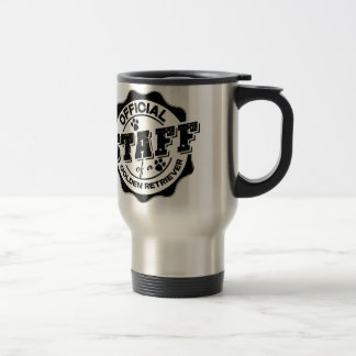 Official Staff of a Golden Retriever Stainless Steel Travel Mug