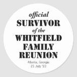 Official Survivor of Our Family Reunion Stickers