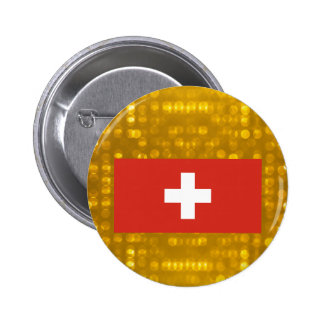 Official Swiss Flag 6 Cm Round Badge