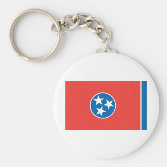 Official Tennessee State Flag Basic Round Button Key Ring