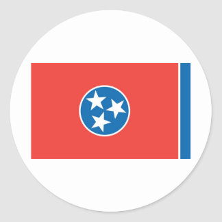 Official Tennessee State Flag Classic Round Sticker