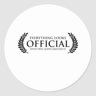 Official Tiny Leaves Classic Round Sticker