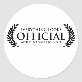 Official Tiny Leaves Round Sticker