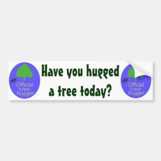 Official Tree-Hugger Car Bumper Sticker