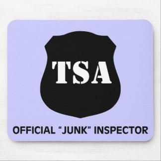Official TSA Junk Inspector Dark Mouse Pad