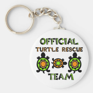 Official Turtle Rescue Team 1 Basic Round Button Key Ring