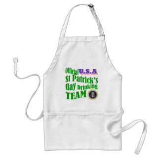 Official U.S.A St Patrick's drinking team Standard Apron