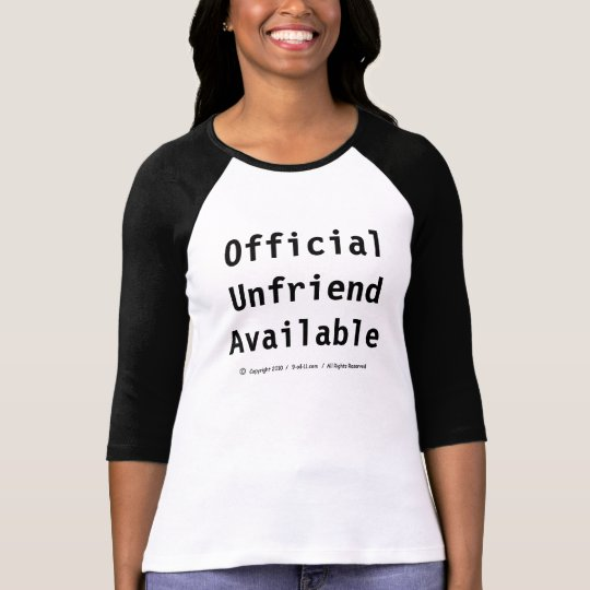 """Official Unfriend Available"" - T T-Shirt"