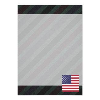 Official United States Flag on stripes 13 Cm X 18 Cm Invitation Card