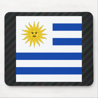 Official Uruguay Flag on stripes Mouse Pad