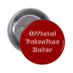 Official Valentine Hater Button