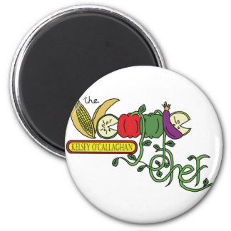 Official Veggie Chef 6 Cm Round Magnet