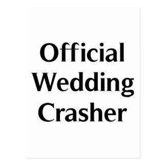 Official Wedding Crasher Postcard