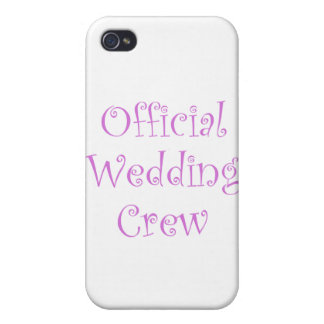 Official Wedding Crew iPhone 4 Cover