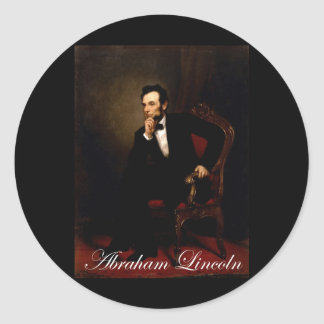 Official white house portrait of Lincoln Sticker