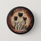 Official Wine Taster button sticker