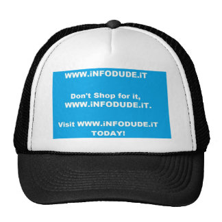 Official WWW.iNFODUDE.iT Hat! Cap
