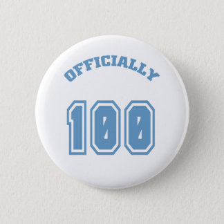 Officially 100 6 cm round badge
