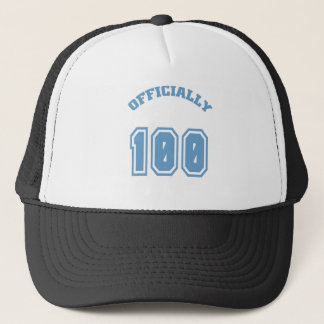 Officially 100 trucker hat