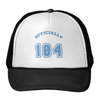 Officially 104 cap