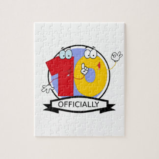 Officially 10 Birthday Banner Jigsaw Puzzle